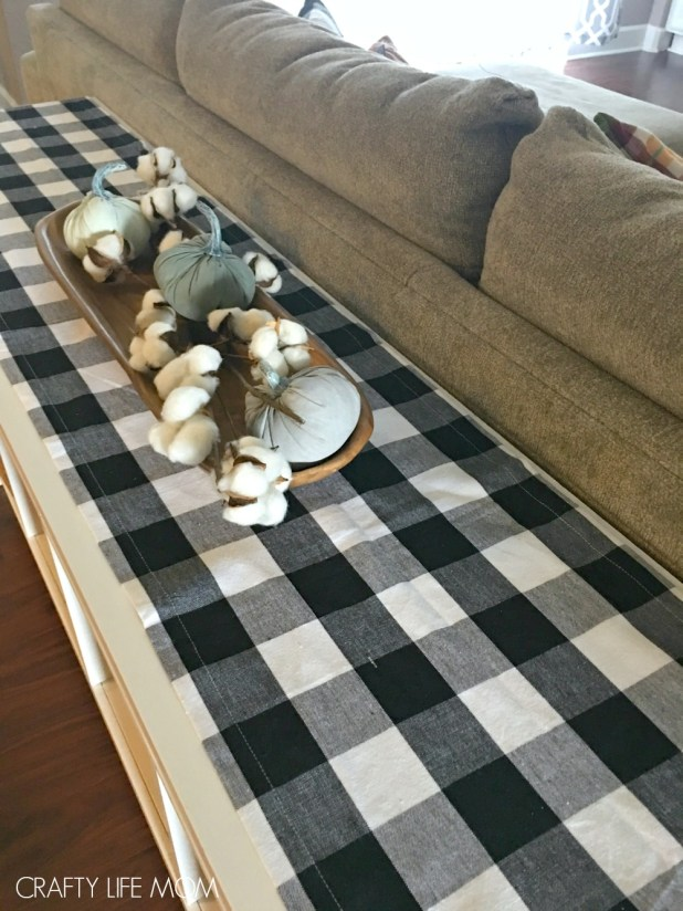 Buffalo check home decor. Add this cute farmhouse buffalo plaid to your home with little cost!