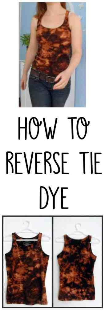 How to Reverse Tie Dye