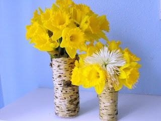 How to Make Tree Bark Vases