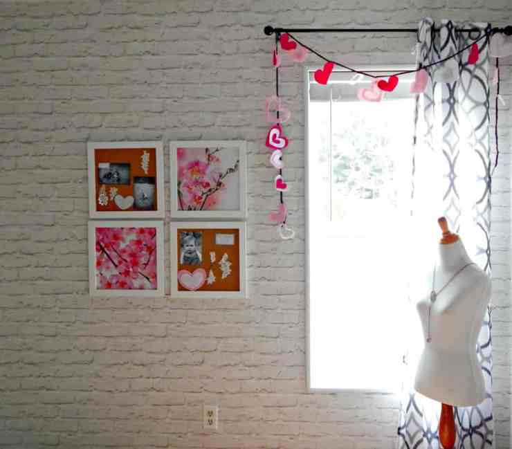 Easy Valentines Day Garland