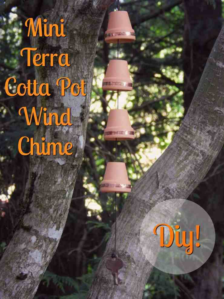 DIY Windchime with Mini Terra Cotta Pots