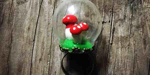 Mushroom Globe Ring Tutorial