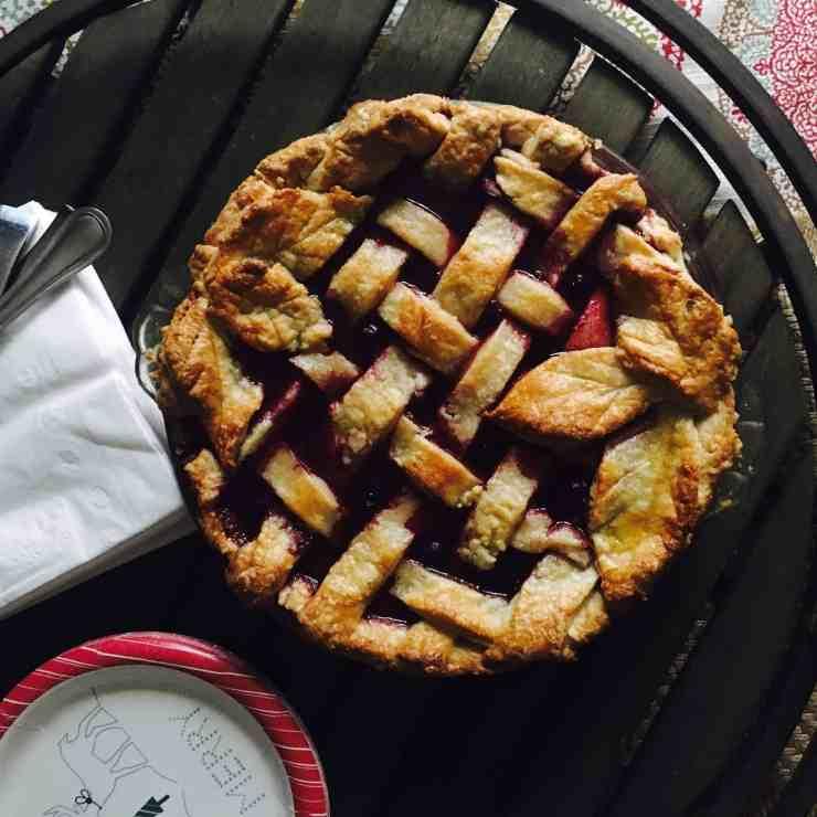 Triple Berry Pie with 7UP Pie Crust