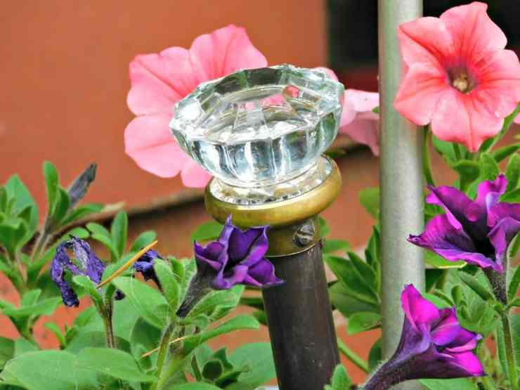 Upcycled Doorknob Garden Art