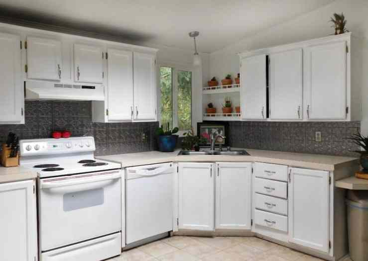 Faux Tin Kitchen Backsplash Tutorial