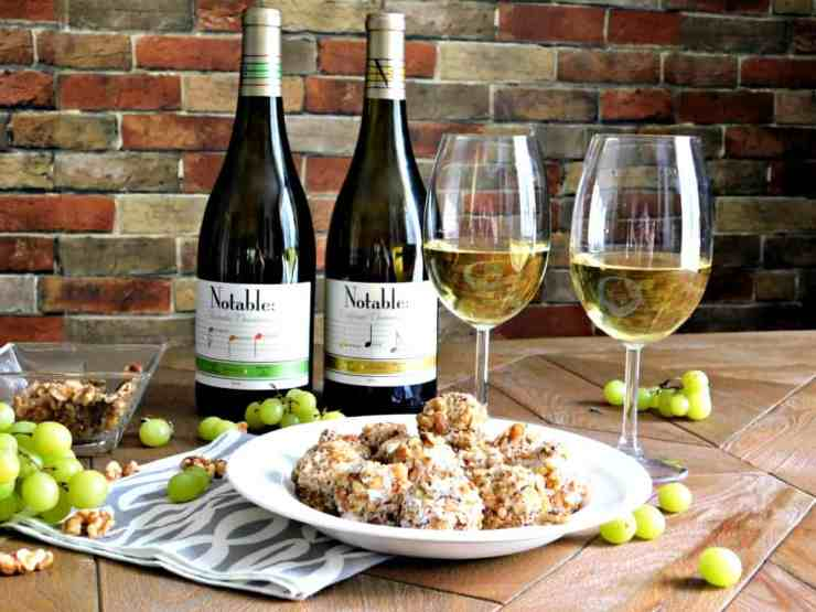 Gnome In Garden: Grape And Goat Cheese Ball Appetizer Wine Pairing