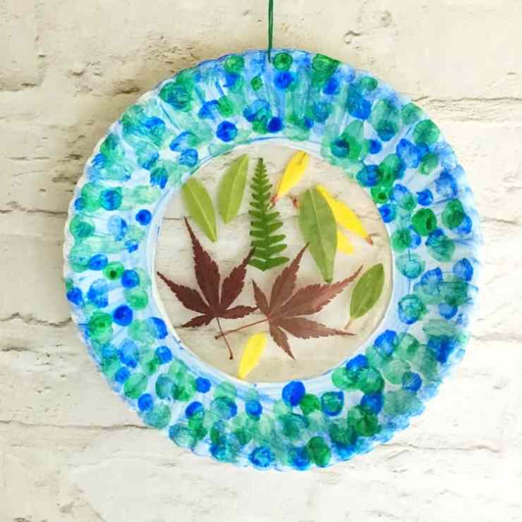 Botanical Sun catcher Craft for Kids