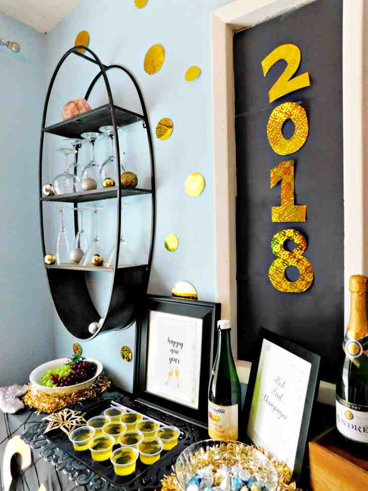 New Year's Eve Party Champagne Bar Inspiration