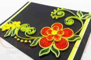 Paper Crimping Flower Card