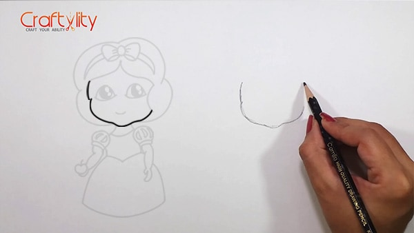 How to draw cute little Snow White - 01