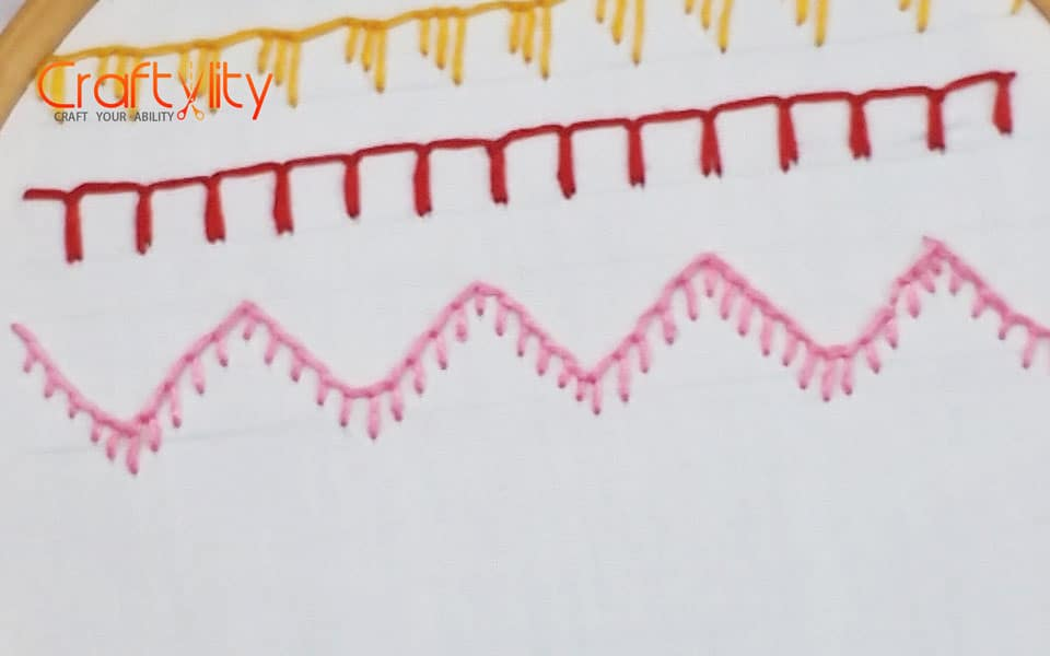 Hand Embroidery for Beginners : 10 Blanket Stitch Variations