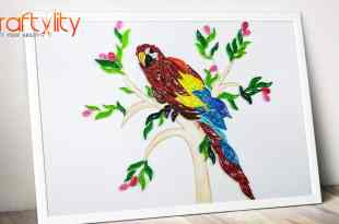 quilling parrot