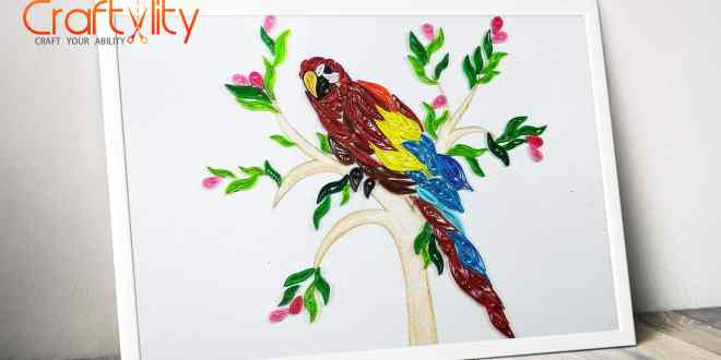 quilling parrot