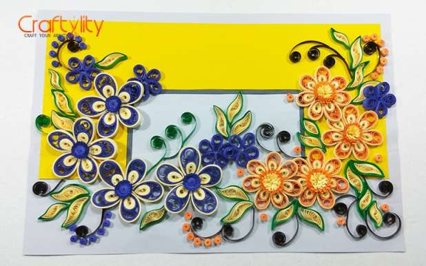Quilling Floral card - Craftylity