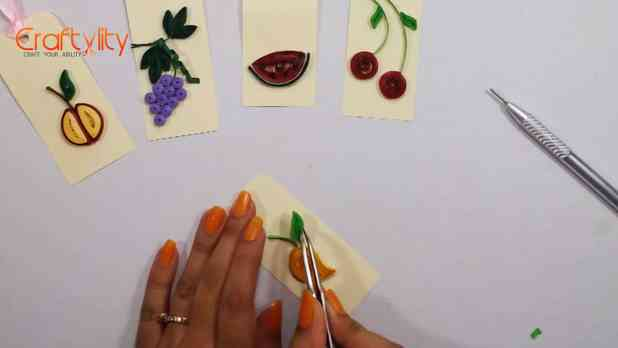 Paper Quilling Fruit Tags- Craftylity