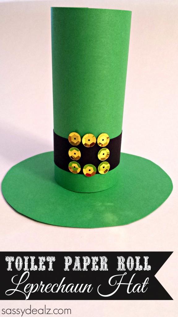Leprechaun Hat Toilet Paper Roll Craft for St Patricks