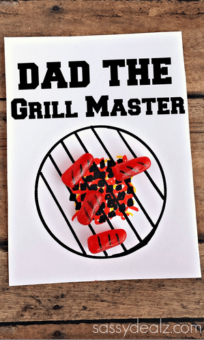 Grill Master Father's Day Card Using Mike & Ikes Crafty