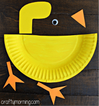 Paper Plate Duck Craft for Kids - Crafty Morning