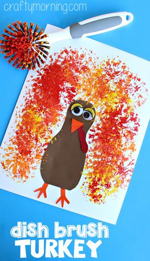 dish-brush-turkey-craft-for-thanksgiving