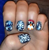 Cute Winter and Christmas Nail Ideas - Crafty Morning