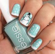 cute winter and christmas nail