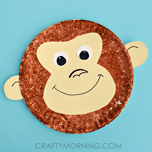 Paper Plate Monkey Kids Craft Idea Crafty Morning