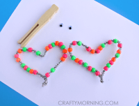 Neon Beaded Butterfly Craft for Kids - Crafty Morning
