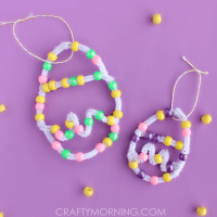 Pipe Cleaner Bead Easter Egg Craft - Crafty Morning