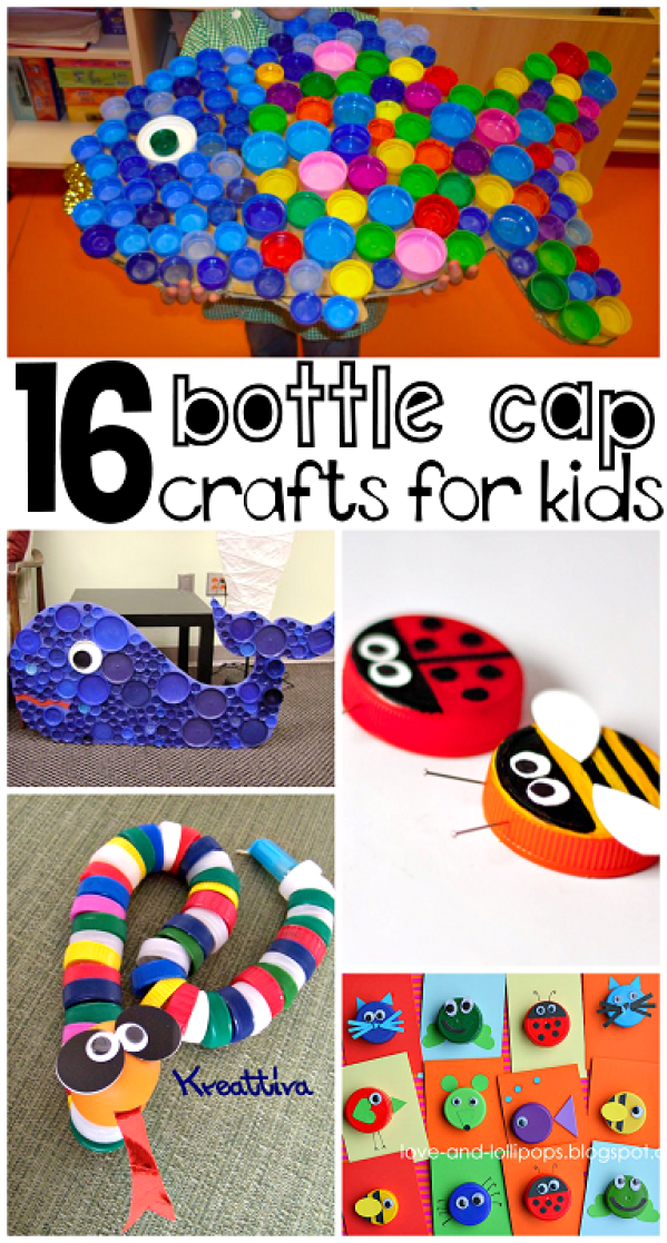 plastic-bottle-cap-lid-crafts-for-kids-to-make