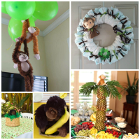 DIY Monkey Baby Shower Ideas - Crafty Morning