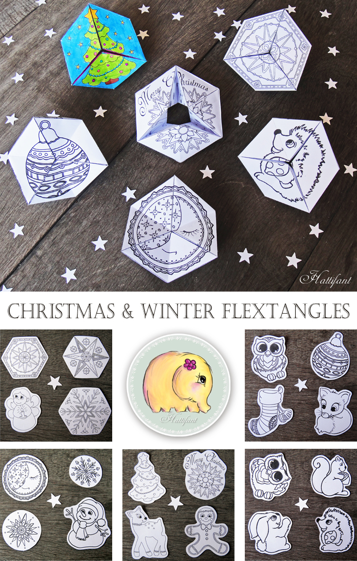 Adorable Printable Christmas Flextangles For Kids Crafty