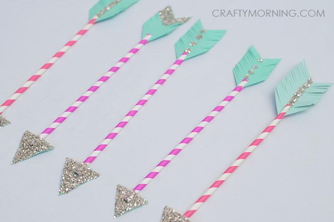 Paper Straw Cupid Arrows Kids Valentine Craft Crafty