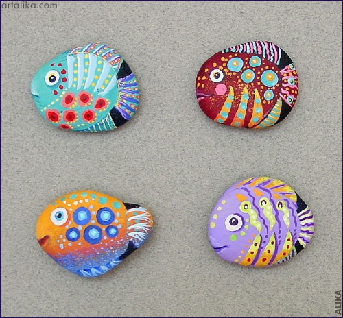 Fish Rocks by Crafty Morning