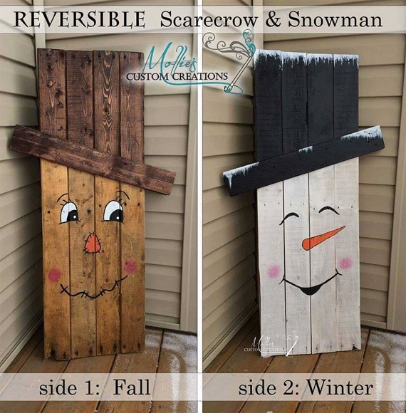 Reversible Wood Pallet – Make a scarecrow for Halloween and flip it ...