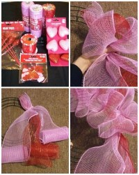 How to Make a Deco Mesh Valentine Wreath - Crafty Morning