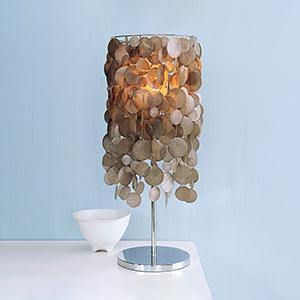 West Elm capiz table lamp, photo