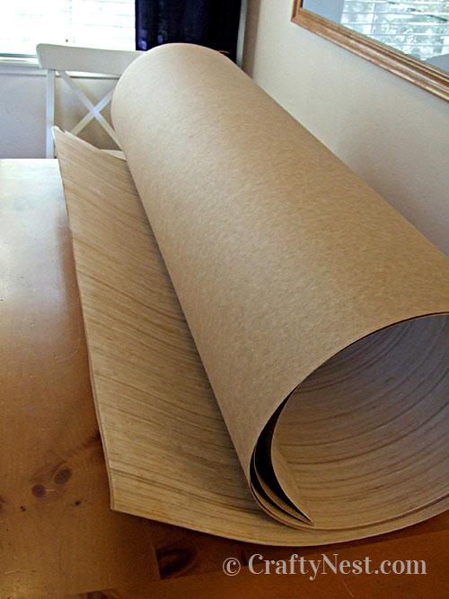 Roll of bamboo veneer, photo