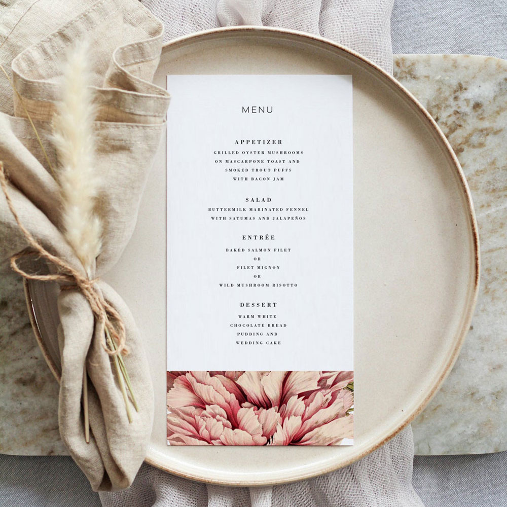 Menu on a plate, photo