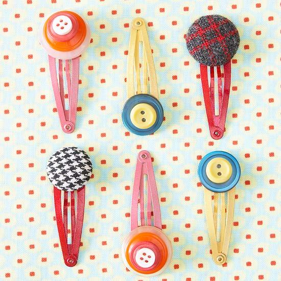 Cute button hair clips for kids, photo