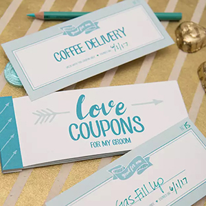 Love coupon booklets, photo