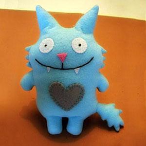 Stuffed felt monster, photo