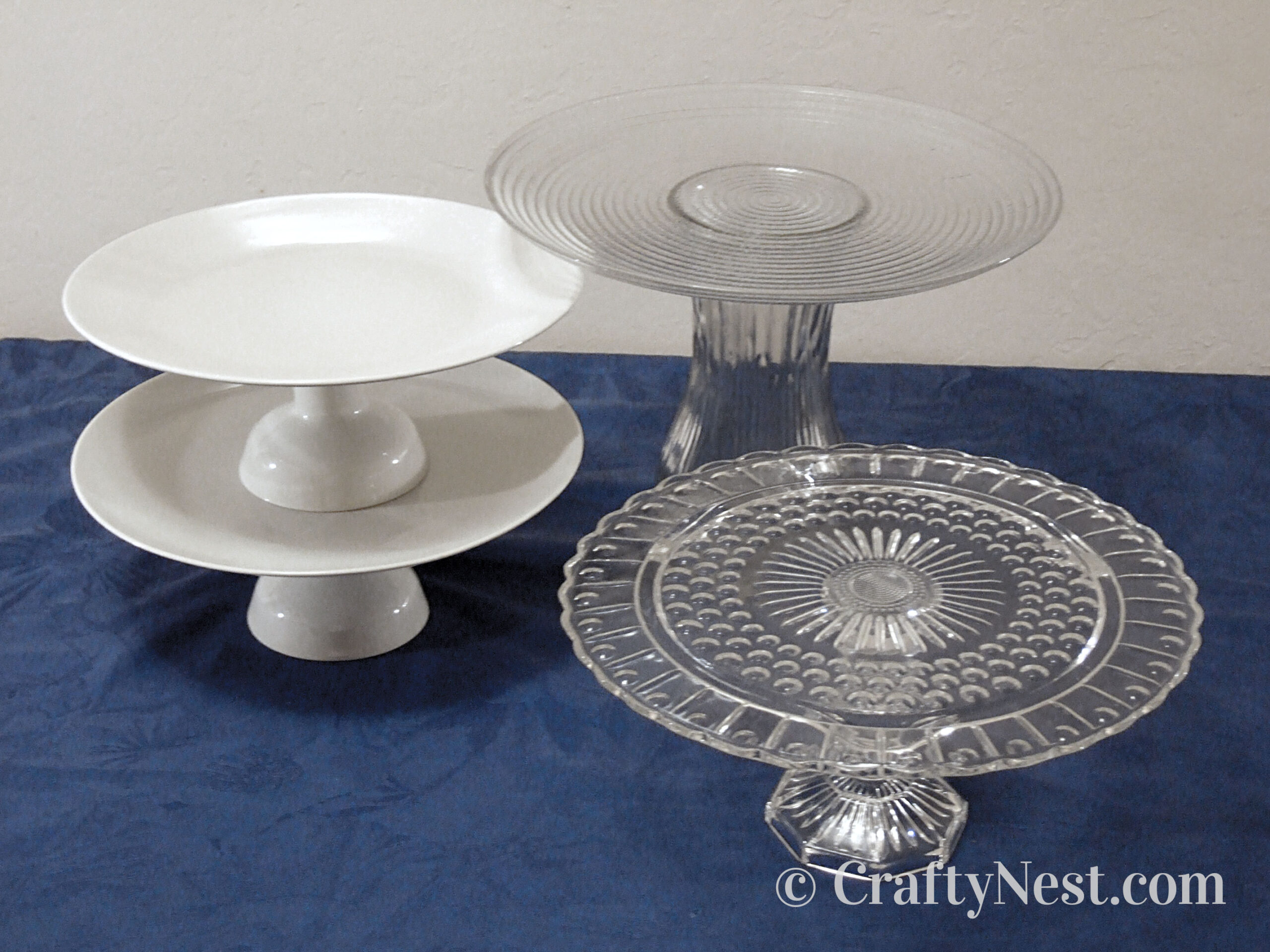 Four cake stands, photo