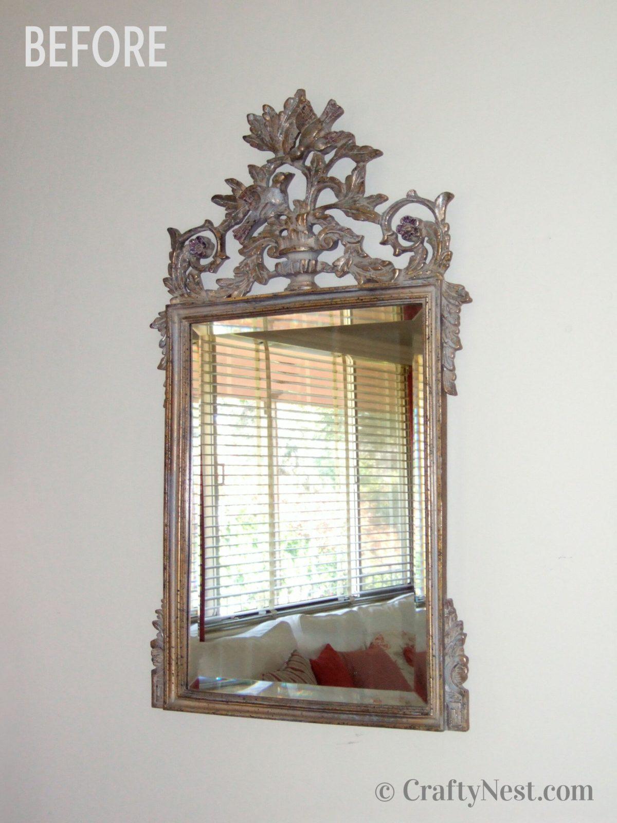 Fancy mirror, before photo