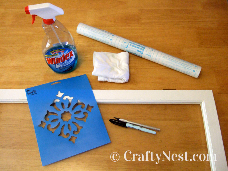 Supplies for frosting glass, photo