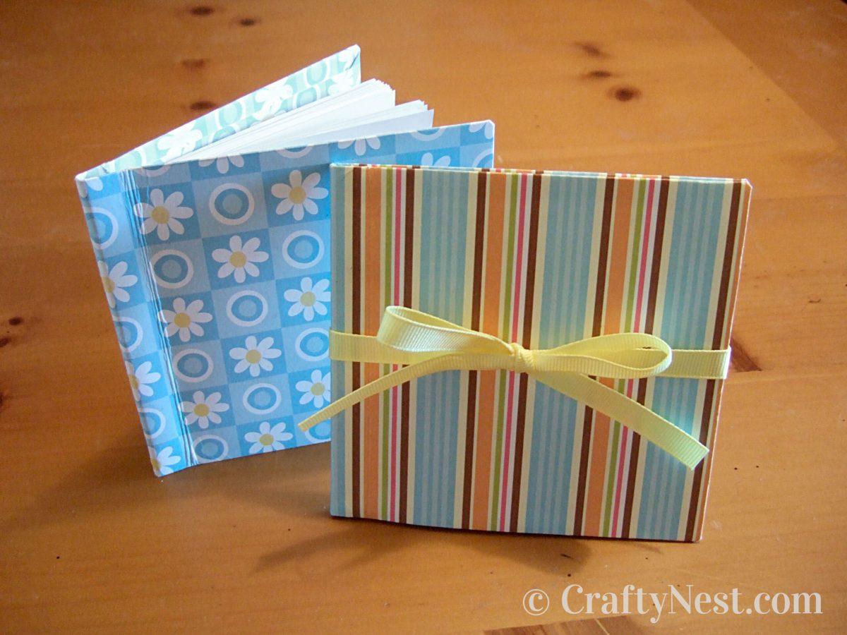 Handmade mini bound books, photo