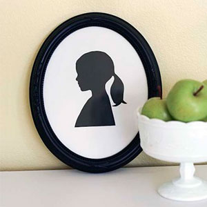 Framed silhouette of a girl, photo