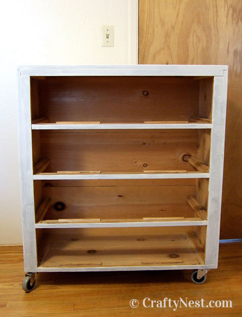 Dresser with one coat of primer, photo
