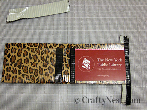 Duct tape wallets, step #22, photo