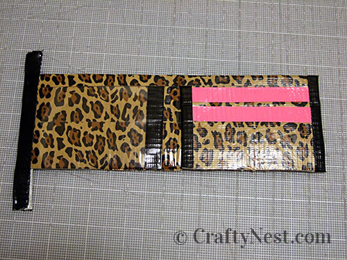 Duct tape wallets, step #23, photo