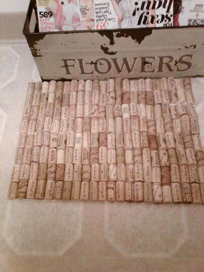 April Freeman's wine cork bath mat, photo